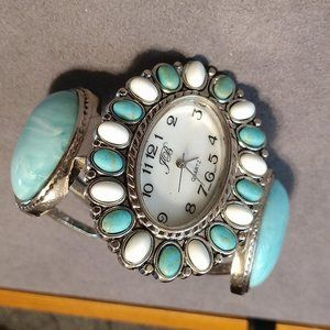 Pretty Faux Turquoise Watch